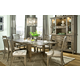 Legacy Classic Brownstone Village Trestle Table Dining Set with Slat Back Chairs