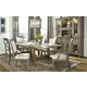 Legacy Classic Brownstone Village Trestle Table Dining Set with Upholstered Back Chairs
