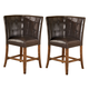 Lacey Corner Upholstered Bar Stool in Brown CLEARANCE