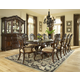 Samuel Lawrence Furniture Baronet Double Pedestal Dining Table Set in Dark Birch