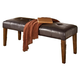 Lacey Large Upholstered Dining Room Bench in Brown