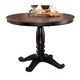 Owingsville Round Dining Table in Black & Brown