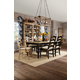 Kincaid Homecoming Solid Wood Farmhouse Leg Dining Table Set in Vintage Pine & Black with Chairs in Natural