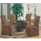Coaster Slauson Dinette w/ Parson Chairs in Brown