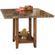 Lacey Square Dining Room Counter Height Table in Brown