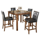 Theo Square Dining Room Set in Brown