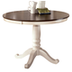 Whitesburg Round Dining Table in Brown - White