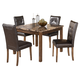 Theo Square Dining Table Set in Warm Brown