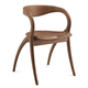 Domitalia Star Wooden Chair in Walnut