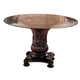 Coaster Tabitha-Cherry Round Glass Dining Table CLEARANCE