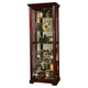 Pulaski Victorian Cherry Two Way Sliding Door Curio