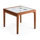 Domitalia Poker-90 Extendable Square Table in Cherry