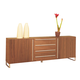 Domitalia Life-2C Sideboard in Chrome/Walnut