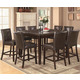 Coaster Milton Counter Height Table w/ Gray-Toned Real Marble Top Dining Set