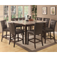 Coaster Milton Counter Height Table w/ Tan-Toned Real Marble Top Dining Set