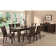 Coaster Milton Rectangular Table w/ Gray-Toned Real Marble Table Top Dining Set