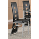 Coaster Los Feliz Dining Chair in Black & Silver (Set of 2) 101682