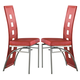 Coaster Los Feliz Dining Chair in Red & Silver (Set of 2) 101683