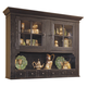 Broyhill Attic Heirlooms China Door Hutch in Antique Black 5397-66B