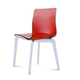 Domitalia Gel-L Accent Chair in Red and Ash White (Set of 2)