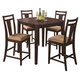 Coaster 5pc Pub Table Set in Espresso 150159