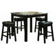 Coaster Sophia 5pc Marble Look Counter Height Dining Set 150094