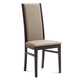 Domitalia Gilda Upholstered Dining Chair in Sand and Wenge (Set of 2)