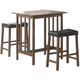 Coaster 3 Piece Bar Table and Stool Set 130004
