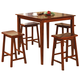 Coaster Yates 5 Piece Counter Height Dining Set in Dark Walnut 150292N