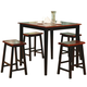 Coaster Yates 5 Piece Counter Height Dining Set in Oak and Black 150293N