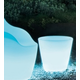 Domitalia Omnia Outdoor Vase in Translucent with Remote LED Light
