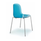 Domitalia Playa Stacking Chair in Blue and Chrome (Set of 2)