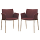 Coaster Dining Nameth Upholstered Dining Chair (Set of 2) in Cranberry 120723
