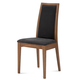 Domitalia Topic High Back Chair in Longlife Black and Walnut (Set of 2)