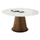 Domitalia Palio-152 Round Dining Table in Walnut and Extra White