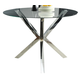Coaster Vance Glass-Top Dining Table w/ Chrome Base 120760