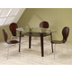 Coaster Orval Glass-Top Dining Set