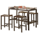 Coaster Atlas 5 Piece Counter Height Dining Set 150096