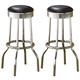 Coaster Metal Bar Stool in Black (Set of 2) 2408