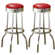 Coaster Metal Bar Stool in Red (Set of 2) 2299R