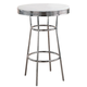 Coaster Metal Bar Table in White 2300