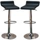 Coaster  Upholstered Adjustable Stool in Black (Set of 2) 120390
