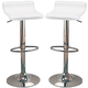 Coaster Upholstered Adjustable Stool in White (Set of 2) 120391