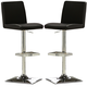 Coaster Adjustable Stool in Black (Set of 2) 120357