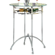 Coaster Modern Bar Height Table with Glass Top 120335
