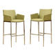 Coaster Linen Fabric Bar Stool in Pear (Set of 2) 120729