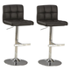 Coaster Adjustable Height Bar Stool in Black (Set of 2) 102554