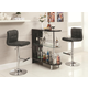 Coaster 3pc Contemporary Bar Set in Black