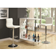 Coaster 3pc Contemporary Bar Set in White