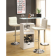 Coaster Bar Table Set in White